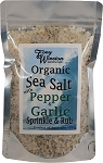 Organic Sea Salt with Pepper and Garlic