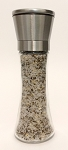 Organic Sea Salt with Pepper & Garlic in Stainless Steel Grinder
